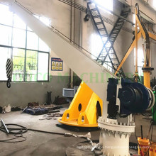 Ship Deck Crane with Electrical System for Boat Lifting
