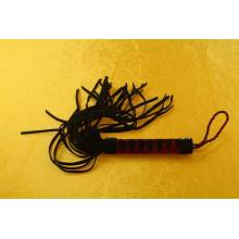 Black ULTRA Rubber Flirting Tail Horse Whip