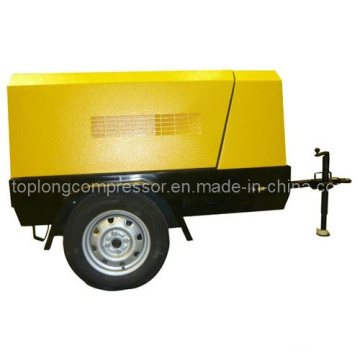 Compresseur d'air à vis rotatif rotatif mobile diesel (TDS-15A 15kw 7bar)