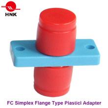 FC Simplex Tipo de brida Adaptador de fibra óptica de plástico