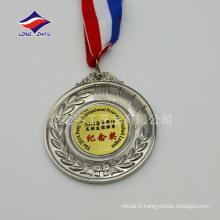 Les médailles sportives en blanc personnalisées font des médailles de métal