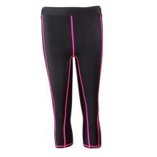 Pantalones 3/4 de funcionamiento calientes de la venta de las señoras del OEM negro (SRC235)