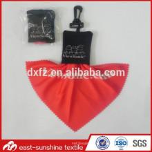 Llavero de encargo personalizado de la impresión del logotipo lentes de microfibra paño de limpieza