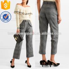 Гофрированные тканые прямые брюки Производство Оптовая продажа женской одежды (TA3007P)