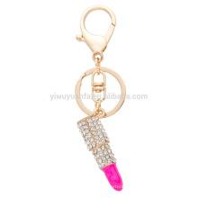 AOU Lippenstift geformte heiße Verkaufs-einzigartige Entwurfs-Art und Weise emaillierte Legierungs-Beutel Keychain