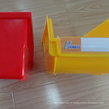 Bac de rangement logistique léger compatible avec le panneau à persiennes / poubelle en plastique double face