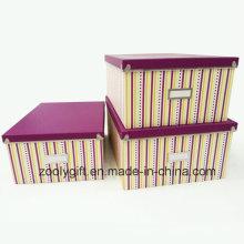 Raya de impresión de papel de almacenamiento Cajas Juego de 3