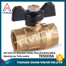 TMOK 3/4 inch brass ball valve with forged motorized plating cock valve locklable and forged polishing brass boby