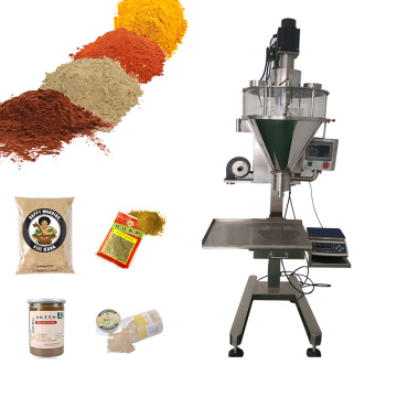 Semi Automatic Protein Milk Cocoa Matcha Coffee Powder Cans Bottles Premade Bags Powder Filling Packing Machine
