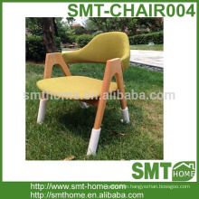 Modern cheap wooden restaurant chairs for fabric chair