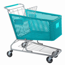 Colorful Plastic Shopping Trolleys by Manufacturer Yuanda Factory