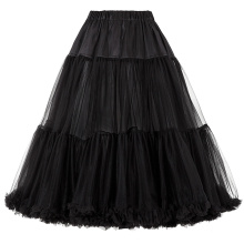 Belle Poque Luxury Retro Dress Petticoat Black Vintage Dress Crinoline Petticoat Underskirt BP000178-1