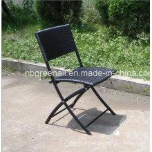 Mobília ao ar livre Rattan / Wick cadeira dobrável