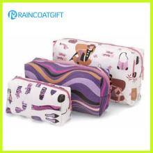 Conjunto de bolsos de maquillaje impreso de 3 piezas Rbc-025