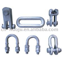 Overhead-line hardware fittings / shackle / U bolt / Socket clevis