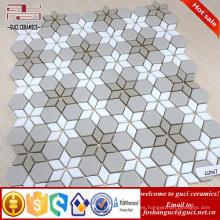 proveedor chino 2017 Nueva baldosa de mosaico de cristal de diseño de Parquet