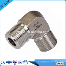 Compression stainless steel screwed pipe fitting
