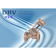 Casting Wcb PTFE Rubber Seated Globe Valve with Ce Approval