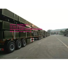 Warna hijau 13M 3axles CIMC Semi Trailer Trak