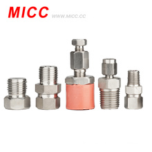 Accesorio de termopar MICC SS304 / SS316 ajuste de compresión de material de alta precisión