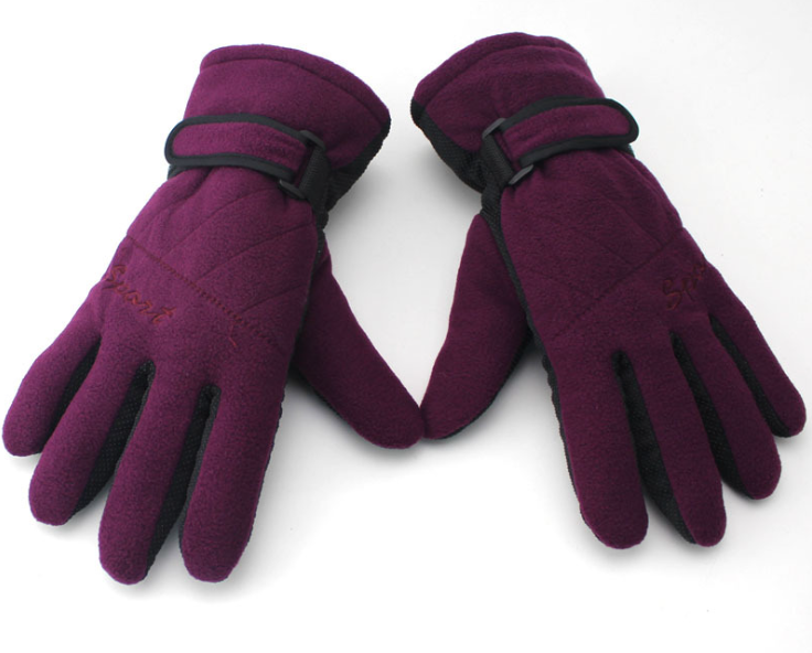 Skid Proof Fleece Gloves Purple