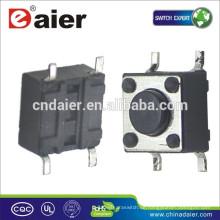 Daier KFC-045-HB Kurzer Fuß 4,5 * 4,5 * H (H = 3,8, 4,8, 5,0, 7,0 mm) 4 Pins Tact Switch