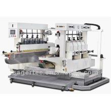 machine de taillage de verre avec double coutures, bordure