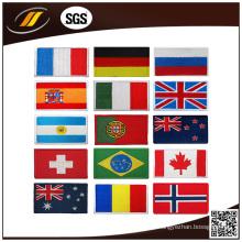 Neue Design-Welt gestickte Länderflaggen-Aufnäher