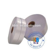 eco-friendly thermal printing material white satin fabric ribbon