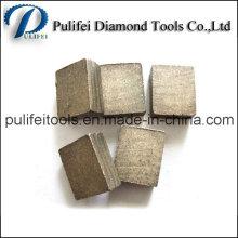 La formule différente de poudre a vu le segment de diamant de lame pour couper la pierre