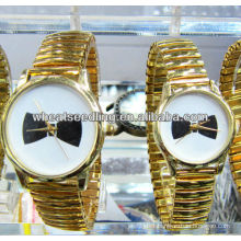 gold plated quartz couple wristwatch JW-01