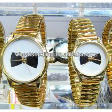 Relógio de pulso de quartzo ouro JW-01