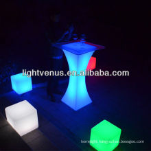 Atmosphere Creating Color Changing Outdoor Event Bar Table