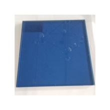 Good quality  11.52mm 55.4  blue grey gold reflective color toughened laminated glass price