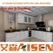 E1 Grade MDF Board Glanz PVC Küchenschrank einfache Designs