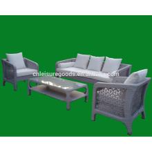 2013 hot design miami PE rotin canapé ensemble mobilier d'extérieur