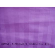 Tissu de rayures de coton pour hôtel de bonne qualité