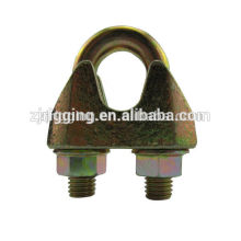 acero galv maleable EN13411-5 clip de cuerda de alambre