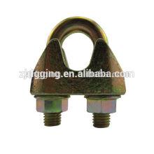 clip de câble en acier galvanisé malléable EN13411-5