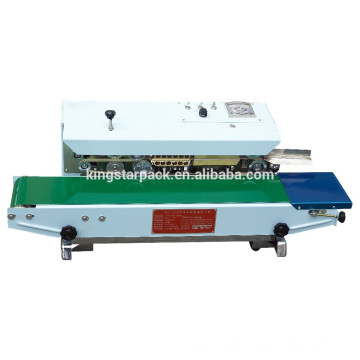 Kontinuierliche Beutelband-Siegelmaschine BF-900W unterbringen Material
