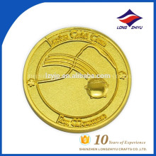 Custom metal 3D good looking printing pure gold coin