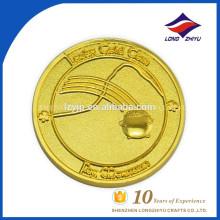 Custom metal 3D impressão de boa aparência moeda de ouro puro