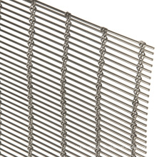 Hängender dekorativer Metallgittervorhang aus Aluminiumkettenhemd