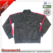 BSCI approved factory 100% polyester track top tricot / 100% polyester sports jacket for man / promotion cheap jacket