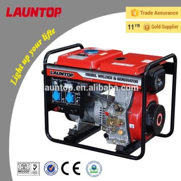 180A y 5kw refrigerado por aire 4 tiempos portátiles de soldadura diesel generador LDW180ARE