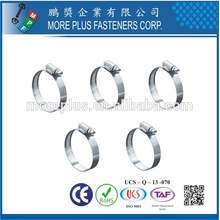 Taiwan stainless steel Oval-shaped Round Vacuum Type Safety Schlauchklemmen Hose Clamp