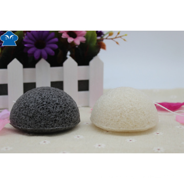 100% Natural activé Charcoal Konjac Sponge pour soins de la peau