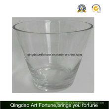 Hecho a mano taza de vidrio de gran tamaño para la decoración del hogar