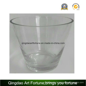 Coupe en verre à grande taille fabriquée à la main pour décoration intérieure