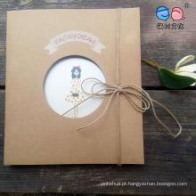 Caderno de caderno por atacado de corda de cânhamo para o fornecimento escolar (XL-MSL-02)